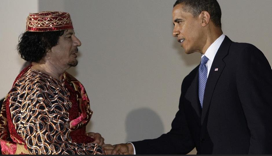 Obama Gadaffi